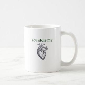 Usted robó mi corazón taza de café