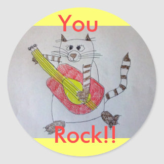 ¡Usted, roca!! Pegatina