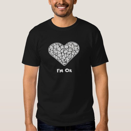 Usted rompe camiseta del corazón playeras