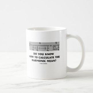 ¿Usted sabe calcular el medio armónico? Taza De Café