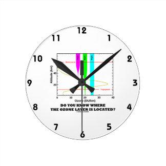 ¿Usted sabe dónde se localiza la capa de ozono? Reloj Redondo Mediano