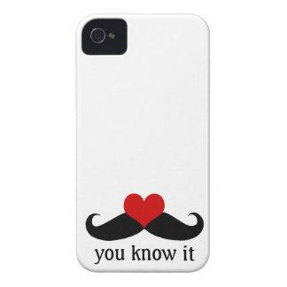 Usted sabe el caso del iPhone de los bigotes del iPhone 4 Case-Mate Protectores