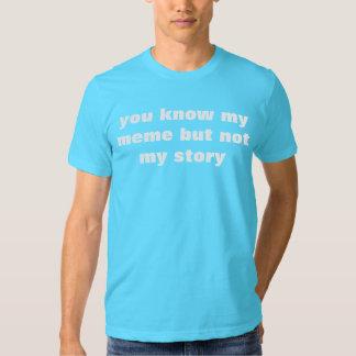 usted sabe mi meme pero no mi historia remera