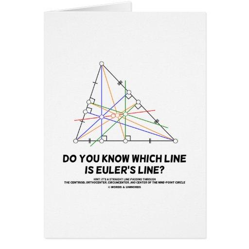 ¿Usted sabe qué línea es la línea de Euler? (Geome Felicitaciones