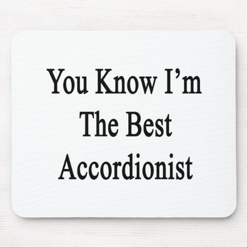 Usted sabe que soy el mejor acordeonista tapete de ratón