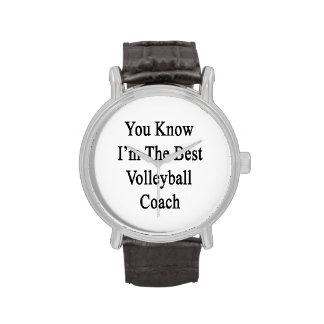 Usted sabe que soy el mejor coche del voleibol relojes