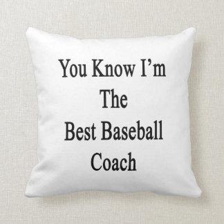 Usted sabe que soy el mejor entrenador de béisbol almohada