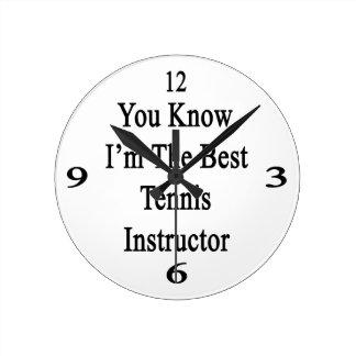 Usted sabe que soy el mejor instructor del tenis