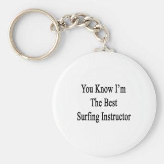 Usted sabe que soy el mejor instructor que practic llavero personalizado