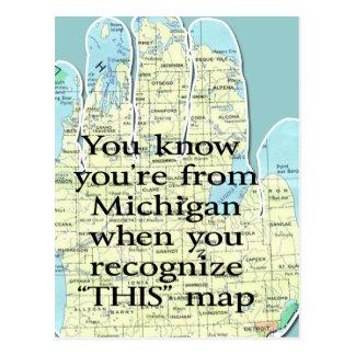 Usted sabe que usted es de Michigan cuando Tarjetas Postales