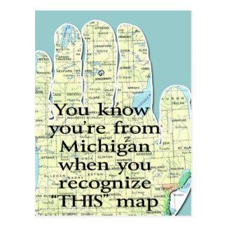 Usted sabe que usted es de Michigan cuando usted r Postales