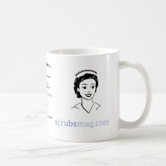 Usted sabe que usted es enfermera correccional cua taza de café
