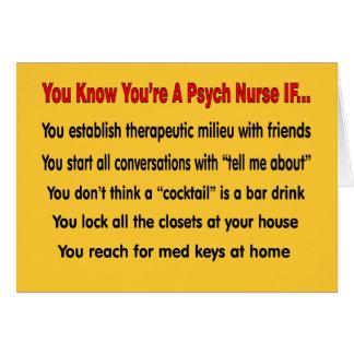 Usted sabe que usted es enfermera de Psych SI… Tarjeta De Felicitación