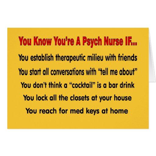Usted sabe que usted es enfermera de Psych SI… Tarjetón