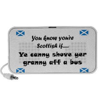 Usted sabe que usted es escocés… iPod altavoz