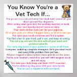 Usted sabe que usted es una tecnología del veterin poster