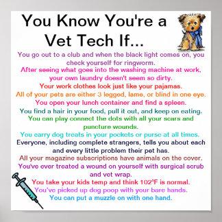 Usted sabe que usted es una tecnología del veterin póster