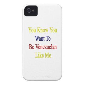 Usted sabe que usted quiere ser venezolano como mí iPhone 4 protector