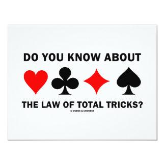 """¿Usted sabe sobre la ley de trucos totales? Invitación 4.25"""" X 5.5"""""""