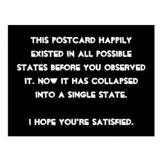 ¡Usted se derrumbó él! Humor de la física de Postales
