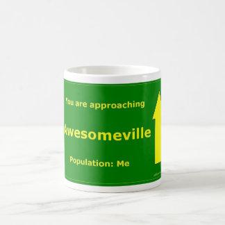 Usted se está acercando a Awesomeville Taza Clásica