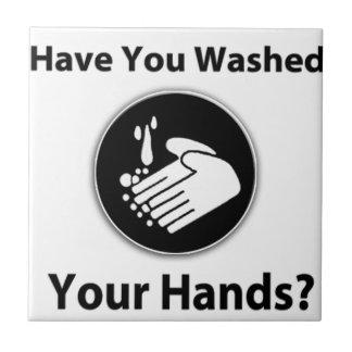 ¿Usted se ha lavado las manos? Azulejo Cuadrado Pequeño