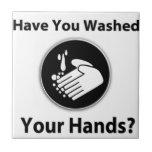 ¿Usted se ha lavado las manos? Azulejos Cerámicos