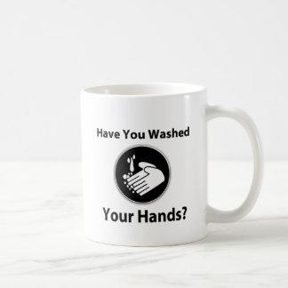 ¿Usted se ha lavado las manos? Taza Básica Blanca