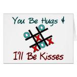 Usted sea abrazos que seré besos felicitacion