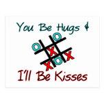 Usted sea abrazos que seré besos postal