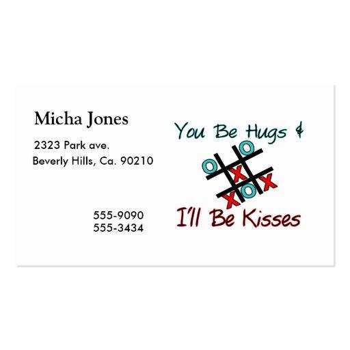 Usted sea abrazos que seré besos tarjeta personal