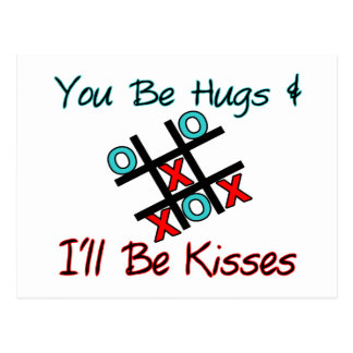 Usted sea abrazos que seré besos tarjetas postales