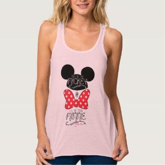 Usted sea mi Mickey y seré su Minnie Playera De Tirantes Cruzados Holgada