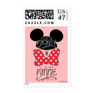 Usted sea mi Mickey y seré su Minnie Sello Postal