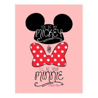 Usted sea mi Mickey y seré su Minnie Tarjetas Postales