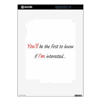 Usted será el primer a saber calcomanía para el iPad 2