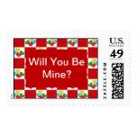 Usted será franqueo de la tarjeta del día de San V