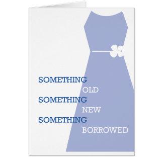 ¿Usted será mi algo azul? Invitación de boda Tarjeta De Felicitación