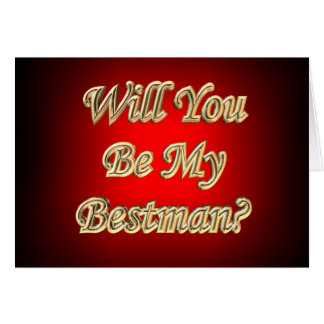 ¿Usted será mi Bestman? Tarjeta