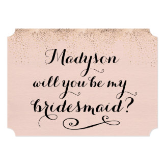 """Usted será mi caligrafía personalizada dama de invitación 5"""" x 7"""""""