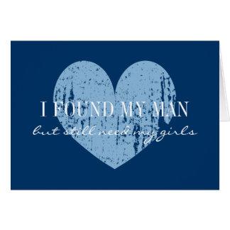 Usted será mi corazón de los azules marinos de las tarjeta