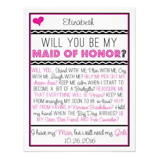 ¿Usted será mi criada del honor Collage rosado ne Comunicados