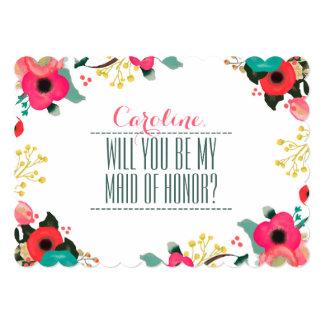 ¿Usted será mi criada del honor? Invitaciones de Invitación 12,7 X 17,8 Cm