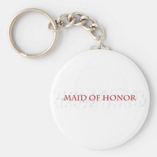 ¿Usted será mi criada del honor? Llaveros Personalizados