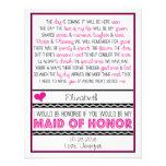¿Usted será mi criada del honor? Poema rosado/negr Comunicados Personales