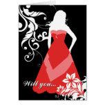 ¿usted será mi criada del honor? : silueta elegant tarjeta