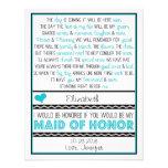 ¿Usted será mi criada del honor? Turquesa/poema ne Comunicado Personal