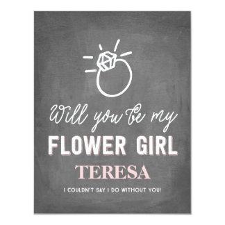 """Usted será mi dama de honor del florista el   invitación 4.25"""" x 5.5"""""""