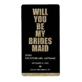 ¿Usted será mi dama de honor? ETIQUETA DEL VINO Etiquetas De Envío