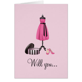 Usted será mi dama de honor tarjeta pequeña